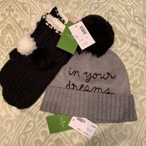 Kate Spade Hat and Mittens
